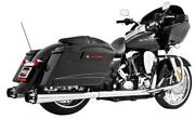 Freedom Performance Hd00624 4.5in. American Outlaw Slip-ons - Chrome/black Tips