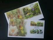Aquatic Plants Of Malaysia 2002 Flower Nature Pond Flora River Fdc Pair