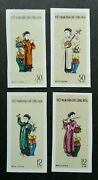 Vietnam Musical Instruments 1961 Traditional Costumes Stamp Mnh Imperf Rare