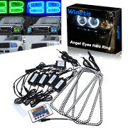For Ford F150 F-150 2004-2008 Rgb Multi-color Angel Eyes Led Headlight Halo Ring