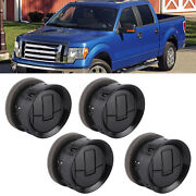 4pcs Air Vent Louvre Air Conditioner Vent Outlet For Ford F150 2009-2014 Black