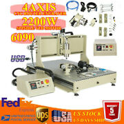 Steel 4axis 2.2kw Vfd Cnc 6090 Engraving Machine For Metal Copper Steel Brass Us