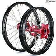 21+18 Complete Spoked Wheel Sets For Honda Crf450r 02-12 Crf250r 04-13 Crf450x