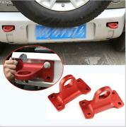 For Lr Defender 2020 2021 110 90 Red Iron Car Rear Bumper Trailer Towing Hook 2x