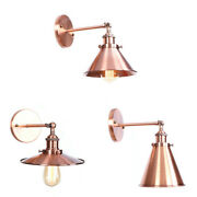 20th C. Factory / Library Sconce E27 Light Wall Lamp Home Lighting Copper Finish