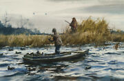 Setting Out Decoys By Ogden M Pleissner Giclee Canvas Print Repro