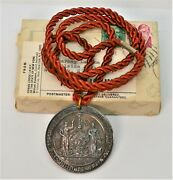 Silver Medal From The Sovereign Lodge Of The Independent Order Of Odd Fellows