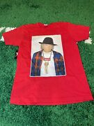 Supreme T-shirt Red Short Sleeve Size Neil Young Tee Casual Box Logo Size Medium