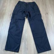 511 5.11 Tactical Series Cargo Pants Menand039s Size 32x34 Cargo Navy Blue Minor Wear
