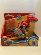 Imaginext Power Rangers Red Ranger And T Rex Zord Fisher Price Cjp64 New Sealed