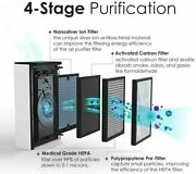 Air Purifier With Ture Hepa 4-stage Filtration Filter Quiet Operation Ozone Free