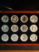 2019 Coins Of The World _ Boxes Set Of 12 X 1 Oz Silver Coins. 0.999 Silver Bu