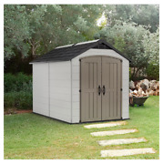 Keter Montfort 7.5and039 X 11and039 Resin Outdoor Storage Shed Gray