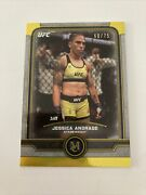 2019 Topps Ufc Museum Jessica Andrade Yellow Parallel Base Card No 27 60/75