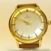 Omega 14k Solid Gold Hammer Bumper 352 Menand039s Automatic Vintage Wristwatch Runs