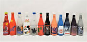 Ibie Interbev Nsda Convention Commemorative Painted Soda Bottles Mixed Lot Of 12