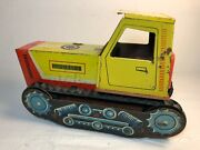 Vintage Ussr Collectible Large Metal Toy Tractor Bulldozer