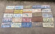 Vintage United States License Plate Collection Lot Of 25 Metal Some Antique Tag
