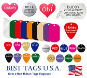Pet Id Name Tag Dog Cat Tags Engraved Made In Usa Best Price From 2.39 Shipped