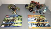 Lego 70001 And 70135 Chima Lot 2 Complete Sets Manual Minifigures