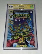 Kevin Eastman Cam Clarke +6 Cgc Ss 9.0 Signed Tmnt Adventures 23 Authentic Comic
