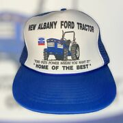Vintage New Albany Indiana Ford Tractor New Holland Snapback Hat