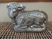 New- Easter Sheep Lamb Farmhouse Vintage Style Faux Silver Metal Cookie Mold