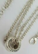 Mont Blanc 15.5-16.5 Profile Collection Wish Pendant Necklace Sterling Silver