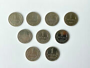 Soviet Russian Ruble Coins 1964 1965 1967 1968 1974 1975 1977 1986 1988