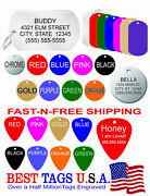 50 Cat Tags Personalized Dog Cat Pet Id Free Engraving