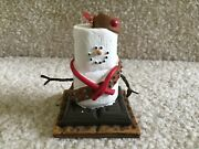 Smores Marshmallow Snowman Dressed As A Girl Scout Christmas Ornament Free Ship