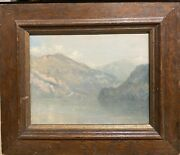 The Lake Brienz School Swiss Or French 1860 Monogrammed E.d