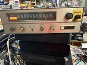 Vintage Fisher Fm-200c Fm-mpx Stereo Tube Tuner Rare Working With Cabinet