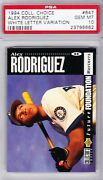 1994 Collector's Choice Alex Rodriguez Rookie Card Psa 10 White Letter Variation