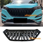New Facelift Cover Exterior Grilles Glossy Black For 2016 17 2018 Hyundai Tucson