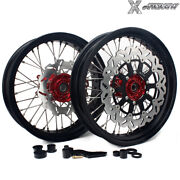 17and039and039x3.5/4.25 Complete Wheel Rotor Bracket Set For Honda Crf250r Crf450r 04-12