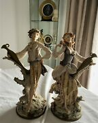 G Armani Porcelain Figurines Water Carriers Rare Pair 1982