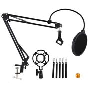 10xdesktop Microphone Stand Suspension Boom Scissor Arm Stand With 3/8-5/8
