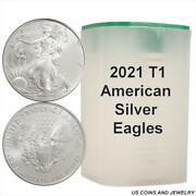 Roll 2021 1 Oz Silver Eagle Type 1 Reverse Last Year Of The Heraldic Eagle