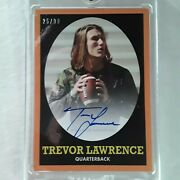 2021 Topps X Trevor Lawrence Rookie Auto 25/99 On Card Auto Clemson 1st Pick