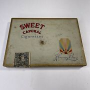 Vintage 1940andrsquos Sweet Caporal Cigarettes Tin Kinney Bros Canada With Stamp