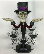 """Katherine's Collection Chandelier Cupcake Stand 28-028630 Halloween 25"""" Old Man"""