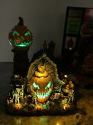 Lemax Spooky The Mad Pumpkin Patch Animated Skeleton Sounds Lights