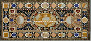56 X 30 Marble Dining End Table Top Conference Desk Inlaid Work Home Decor