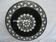 36 Black Marble Dining Table Top Coffee Mother Of Pearl Inlay Garden Home Decor