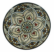 Black Marble Table Top Mother Of Pearl Inlay Work Hallway Decor Gifts 24