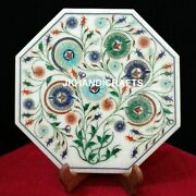 Octagon 12 Marble Wall Plate Marquetry Antique Inlaid Art Living Room Decor