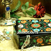 6x4x2 Belgium Marble Precious Floral Inlaid Jewelry Box Living Decor Gifts