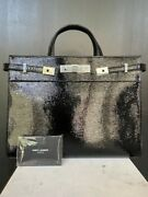 Saint Laurentmanhattan Small Shopping Bag In Patent Leather