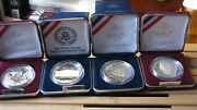 4 Different Proof And Ms Us Mint Commemorative Silver 1 Coins 1990-99